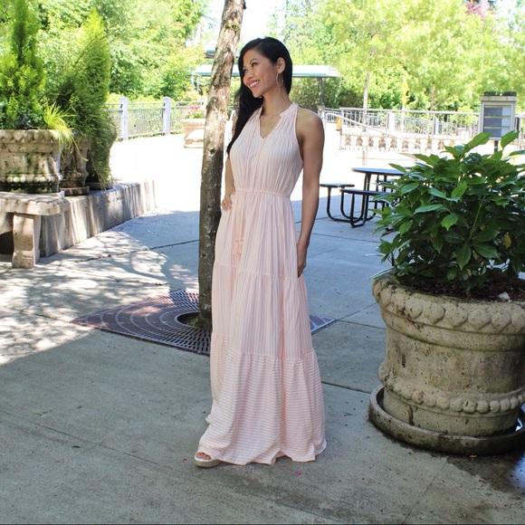 fc9c7cce6 LC Lauren Conrad Dresses & Skirts - LC Lauren Conrad Stripe Print Halter  Maxi Dress